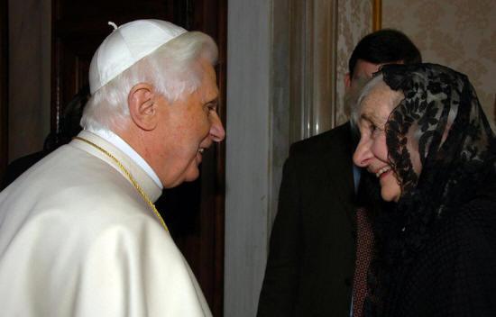 O encontro de Dra. Alice com S.S. o Papa Bento XVI